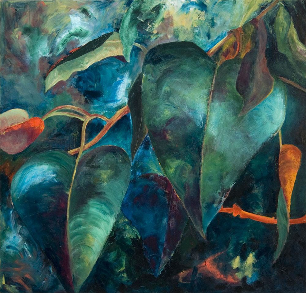 Heart Leaves, 2009, 52x54 Inches, acrylic on canvas