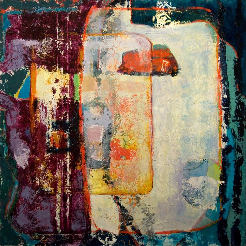 Ancient Memories, 2012, 48x48 Inches, acrylic on canvas