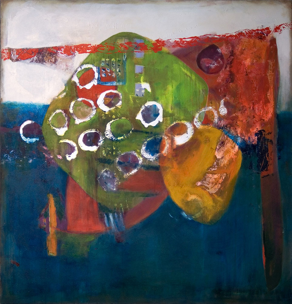 Calibrate, 2009, 54x52, acrylic on canvas