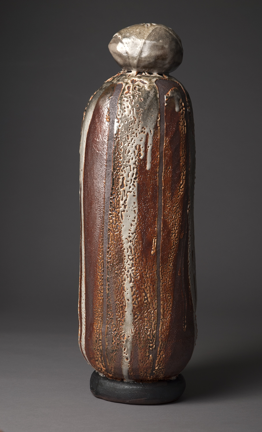 Stele #1, 2017, 23x8x8 inches, clay and glaze