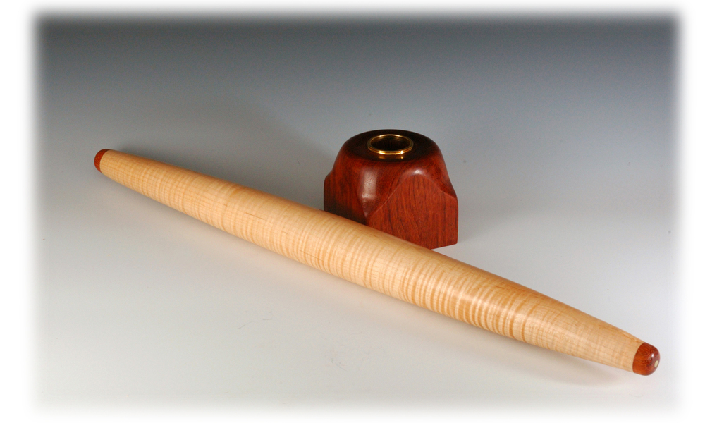 Maple and Bubinga French rolling pin
