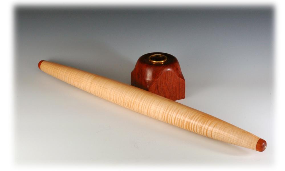 Maple and Bubinga French rolling pin