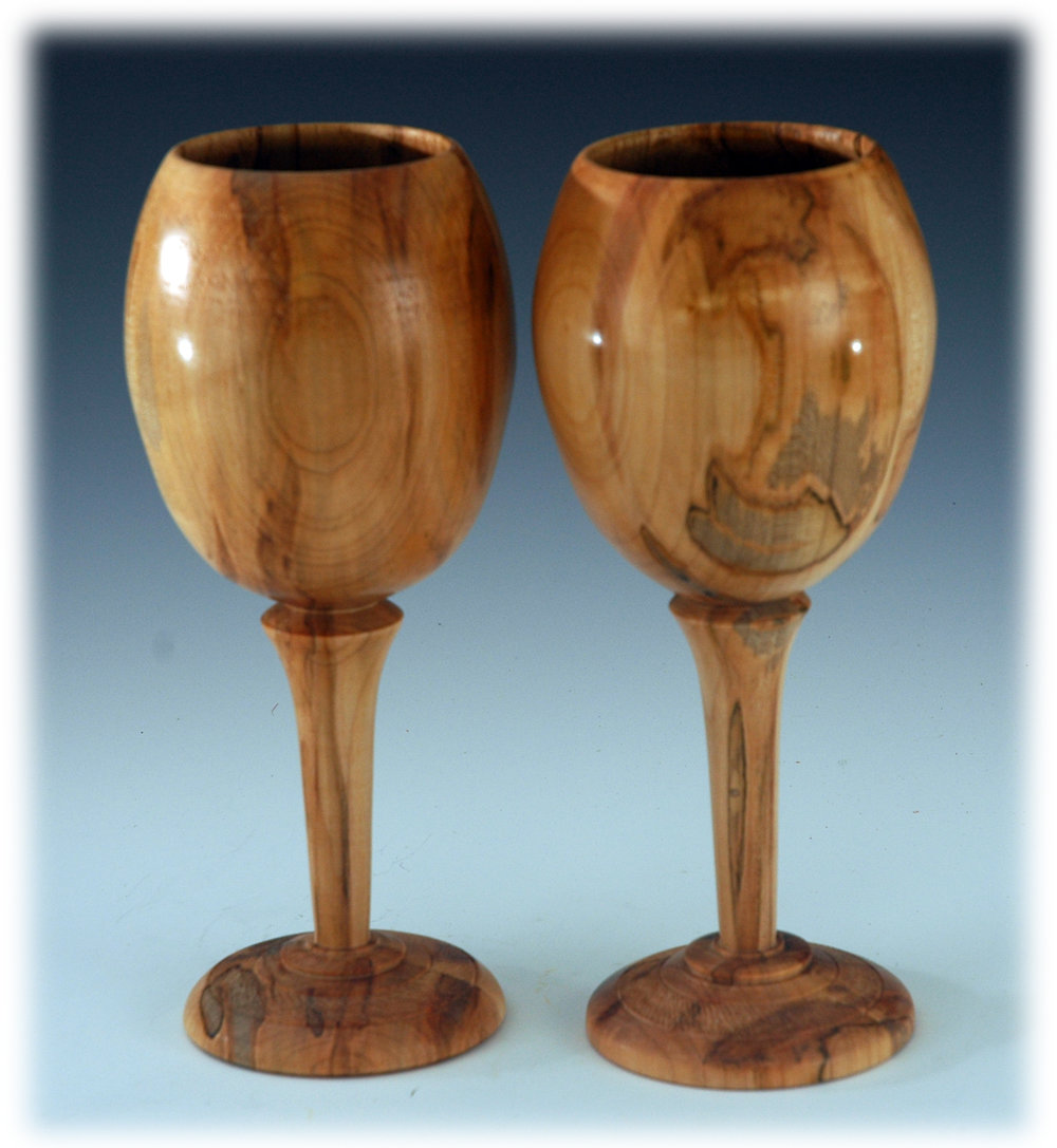 Wooden Wine Glasses Shopdog Turnery