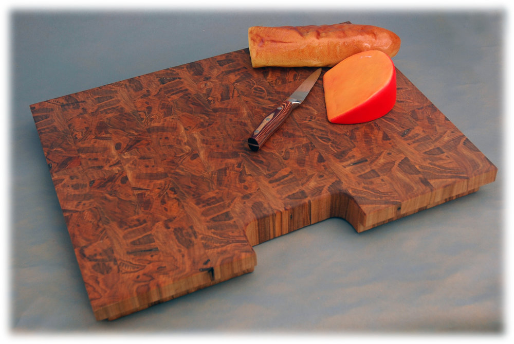 End Grain Ambrosia Maple <p><font size=-4>Sink Cover</font></p>