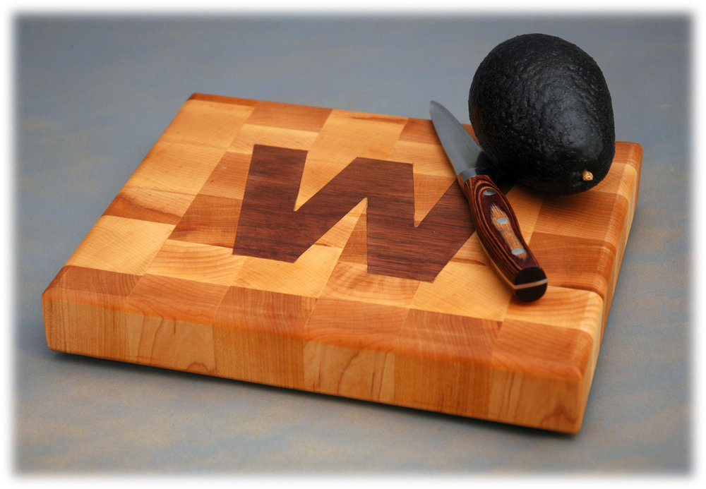 End Grain Maple and Walnut