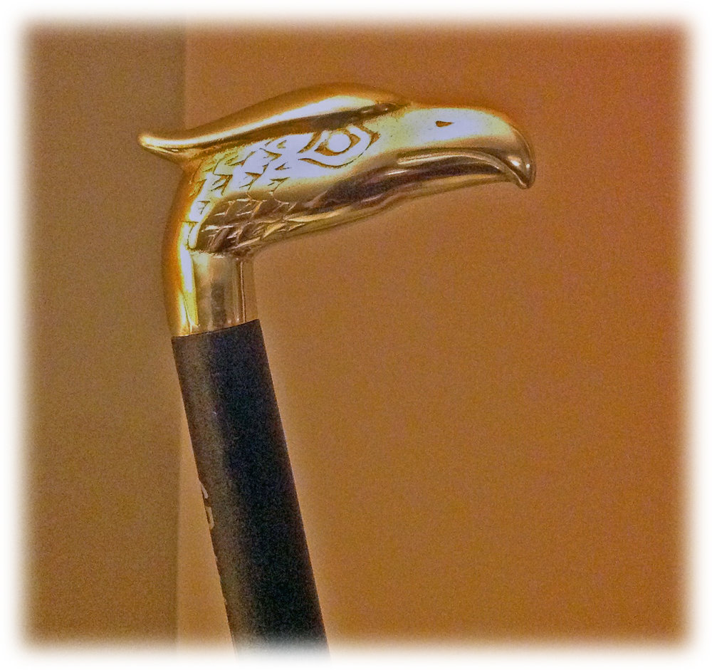 Brass Eagle & Ebonized Maple