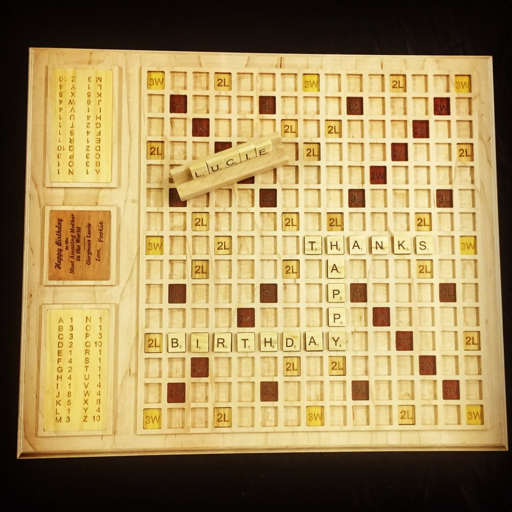 Scrabble: Maple & various other woods