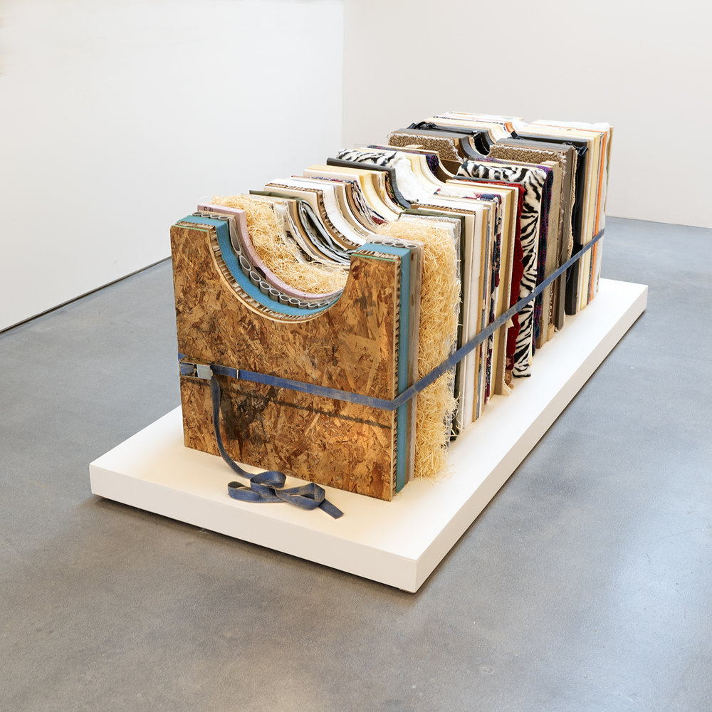 "24 x 24 x 68"" plywood, particle board, chipboard, various foams, paper, plastic, cardboard, pillow, quilts, blankets, pvc pipe, carpet, batting, drywall, shredded wood, ratchet strap, suitcase, insulation, shipping pallet, cork 2019"