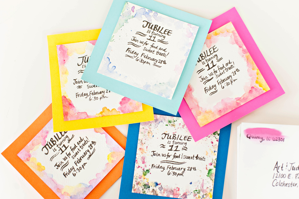 Watercolor Invitations www.jleeblog.com