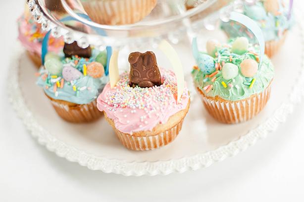 DIY Easter Basket Cupcakes