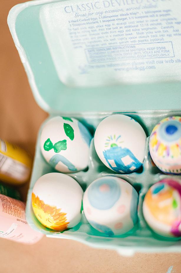 DIY Simple Painted Easter Eggs
