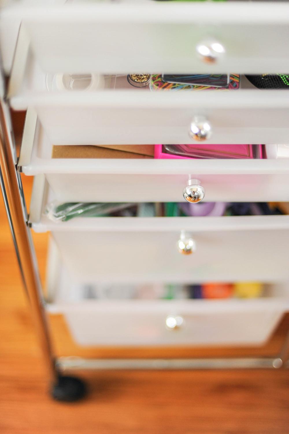 Home Office Organization, Craft Cart