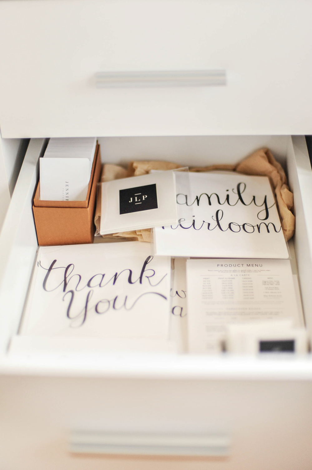 Photography Packaging, Home Office Organization