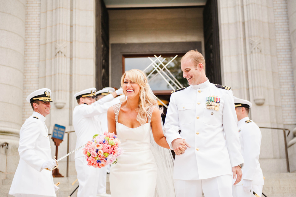Naval Academy Wedding Featured on Style Me Pretty