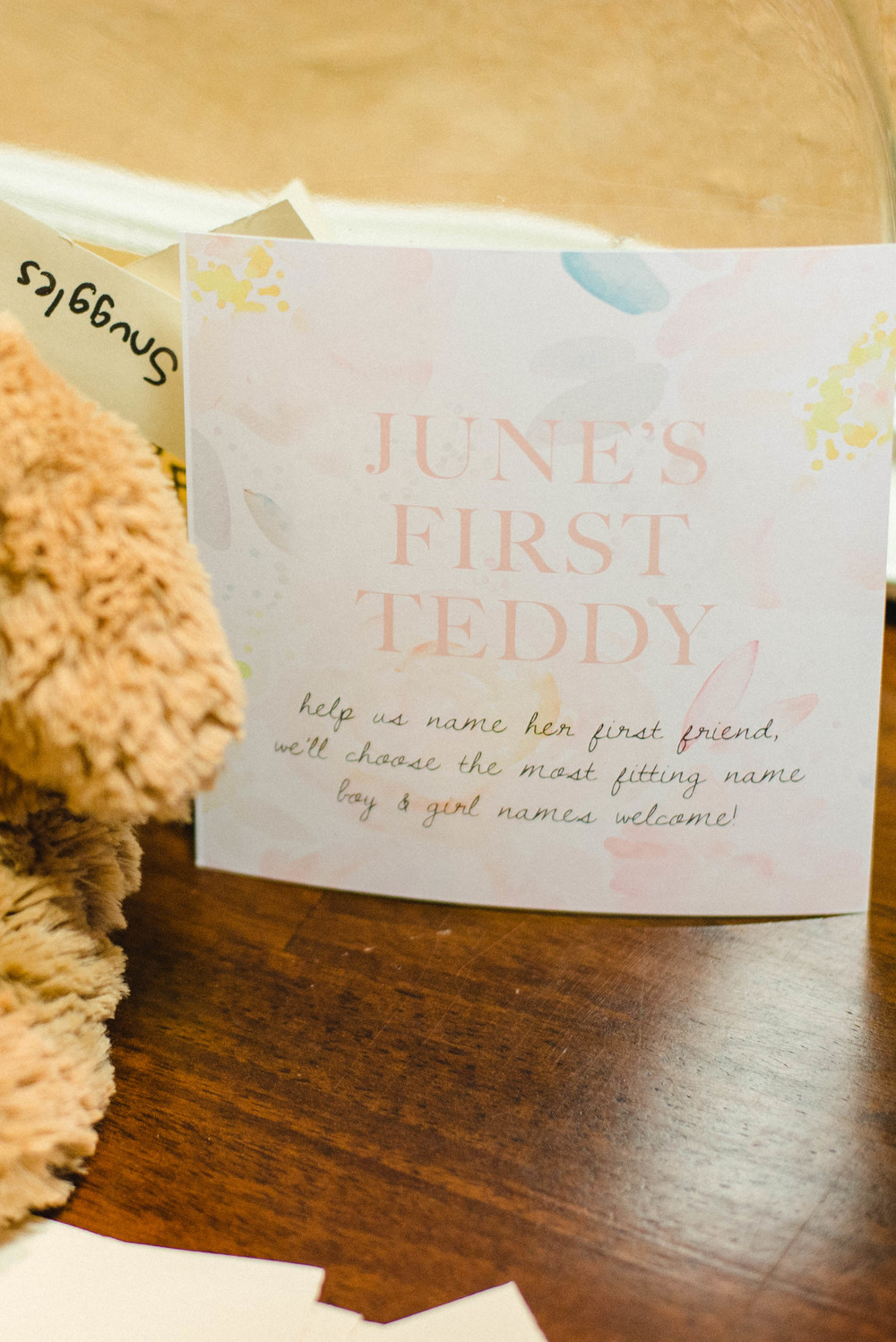 Name Her Teddy Bear: Baby Shower Game