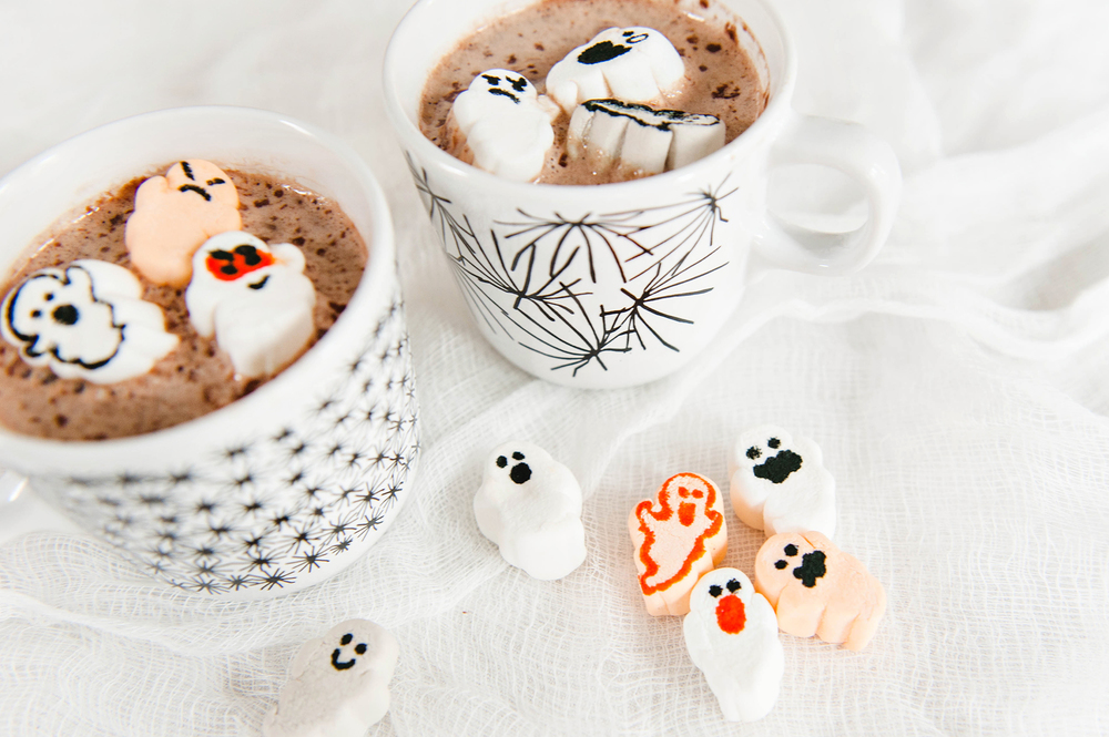 Halloween Hot Cocoa with DIY Marshmallows