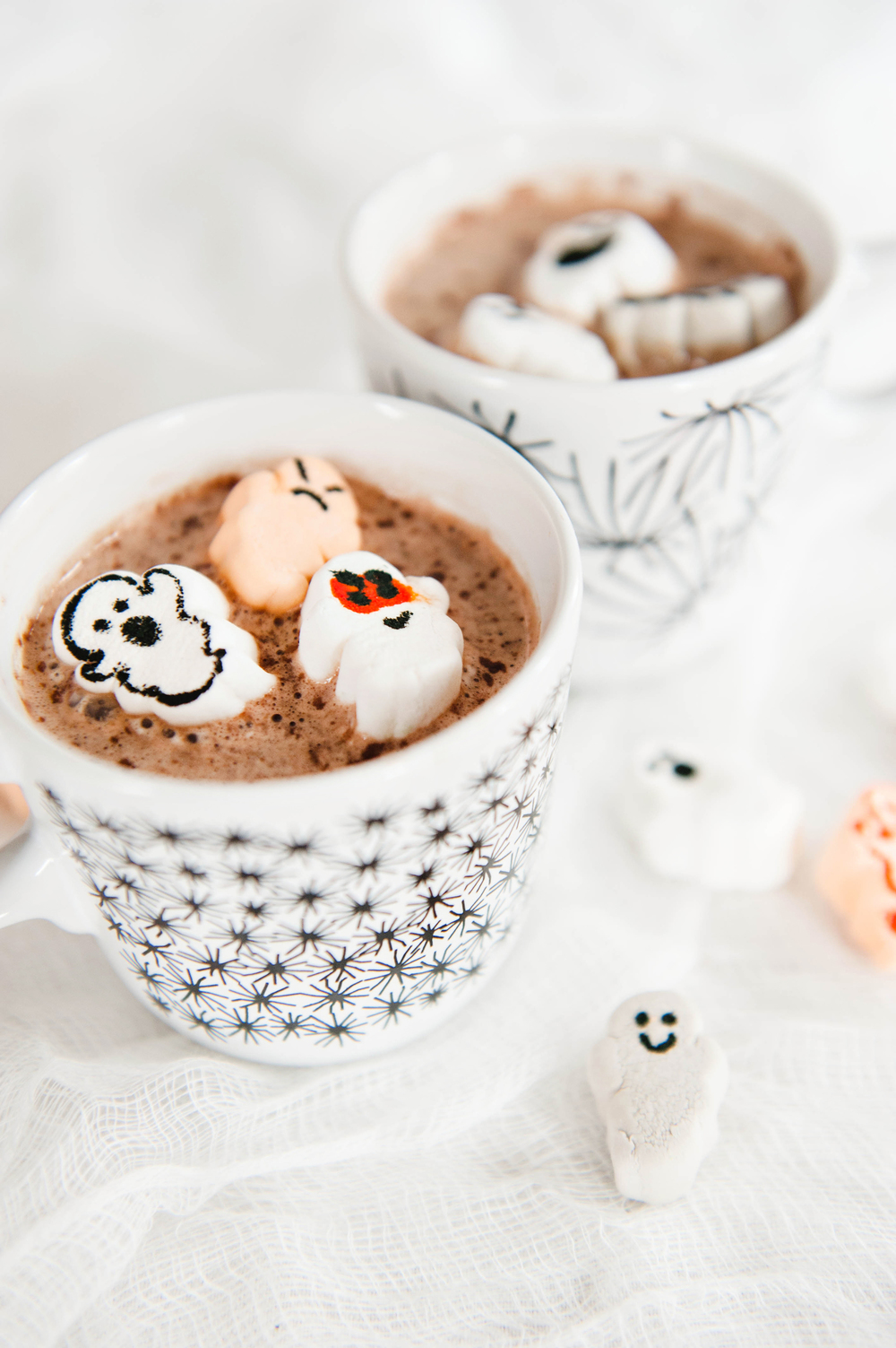 Halloween Hot Cocoa with DIY Ghost Marshmallows