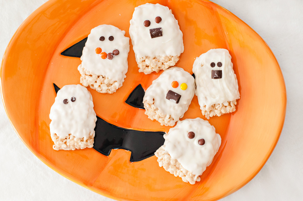 Rice Krispie Ghost Treats Halloween