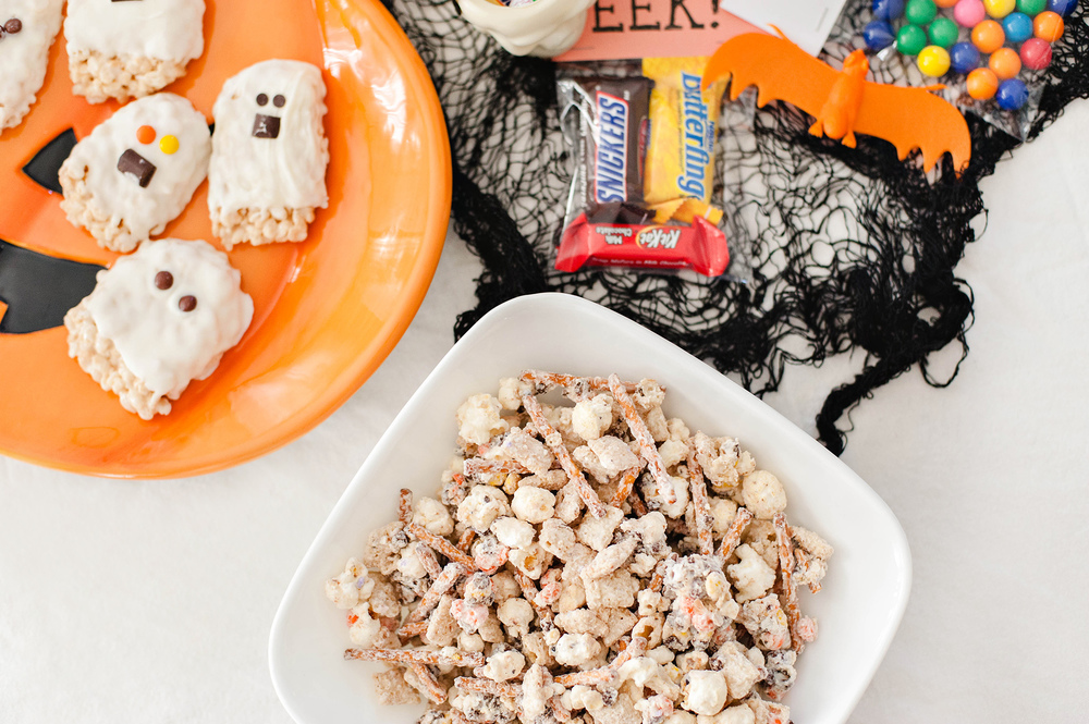 Halloween Ghost Rice Krispie Treats