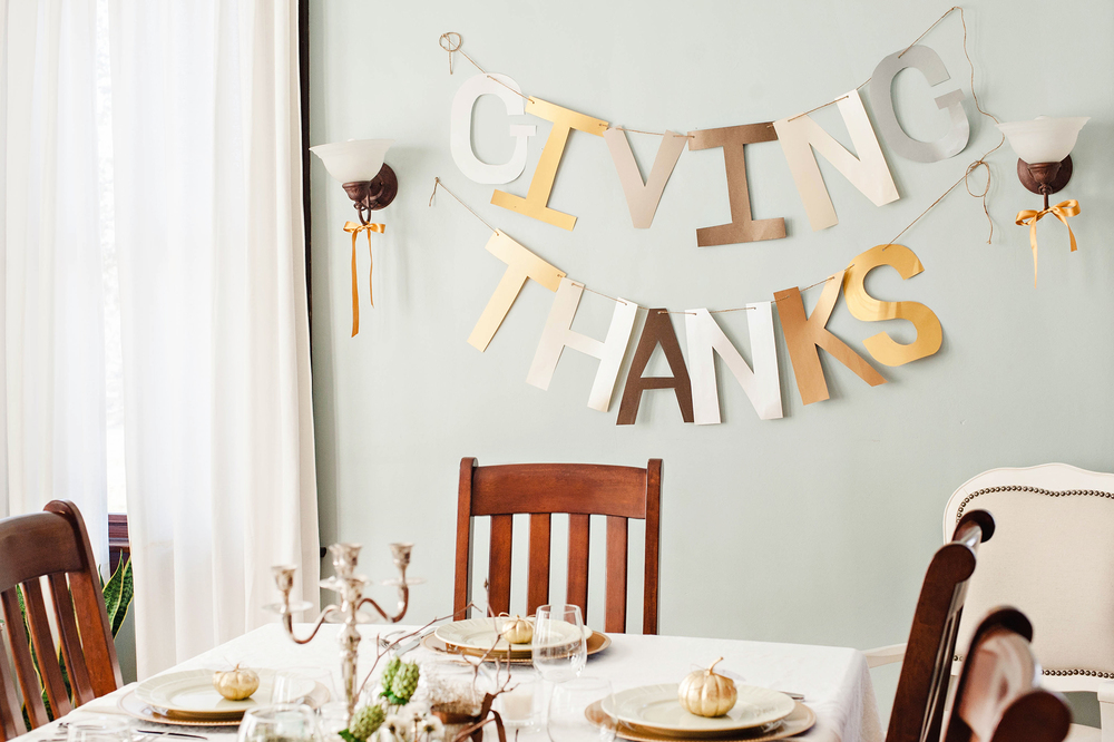 Giving Thanks Thanksgiving Banner DIY