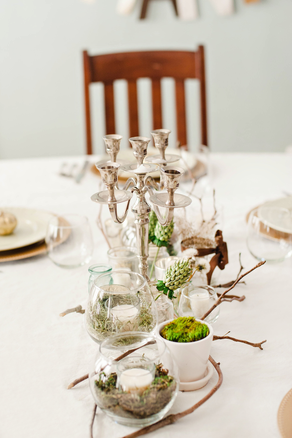 DIY Rustic & Chic Thanksgiving Table