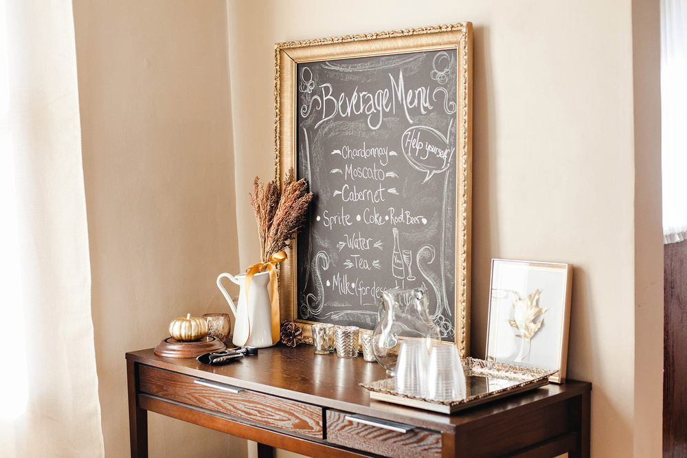 Rustic Thanksgiving Hosting Drink Menu