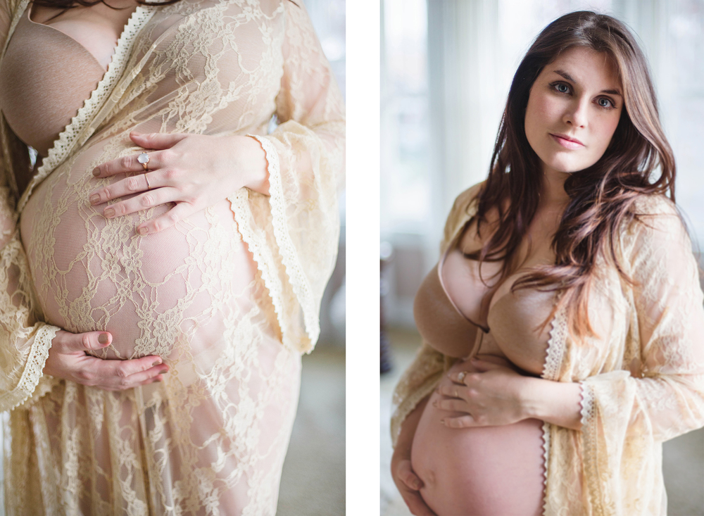 Intimate Bedroom Boudoir Maternity Shoot Pregnancy