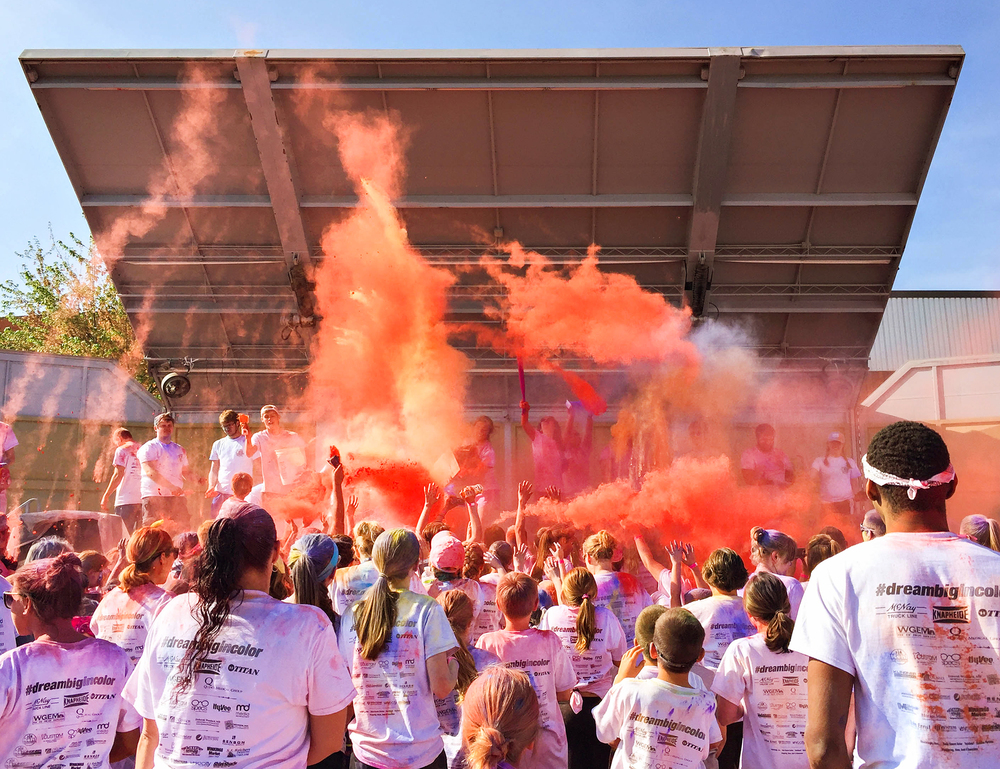 After a countdown, the stage unleashed a final burst of colors onto the crowd.