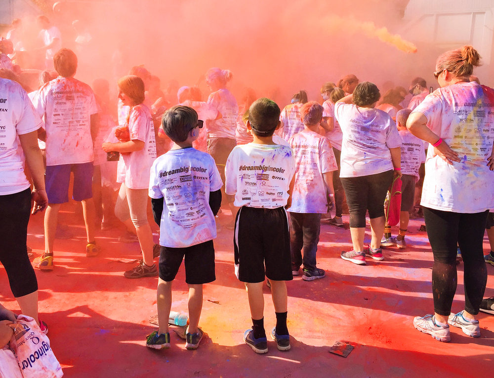 Quincy, IL Photographer Dream Big in Color Fun Run