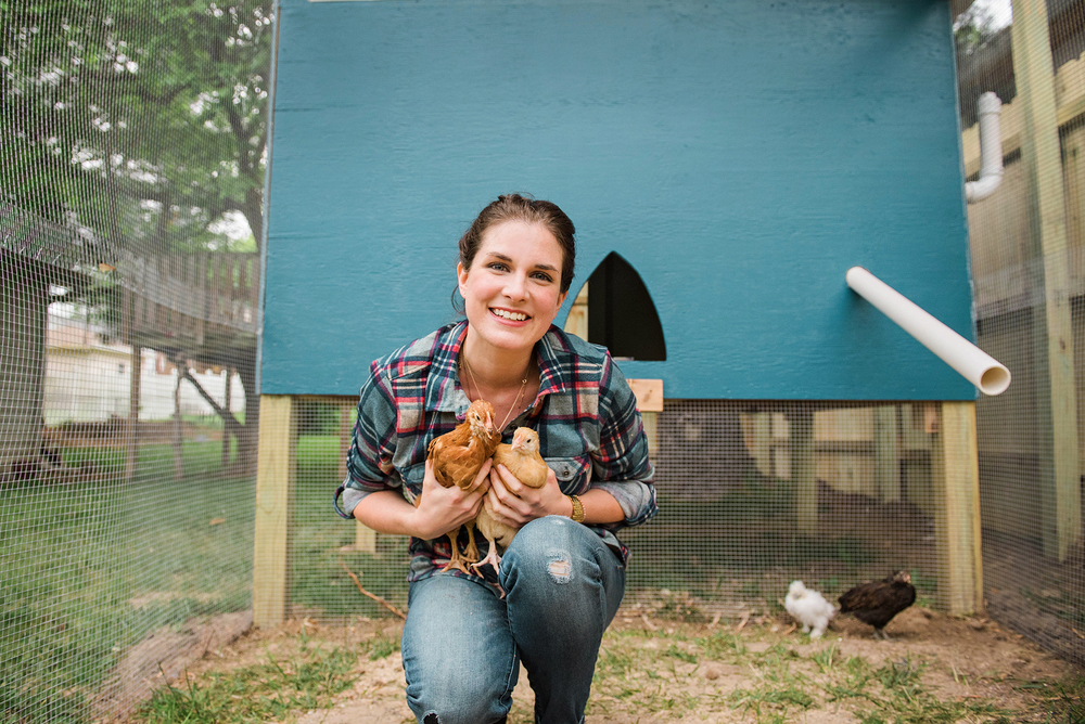 See how happy they make me?! : ) It won't be the last of the chickens on the blog, not at all.