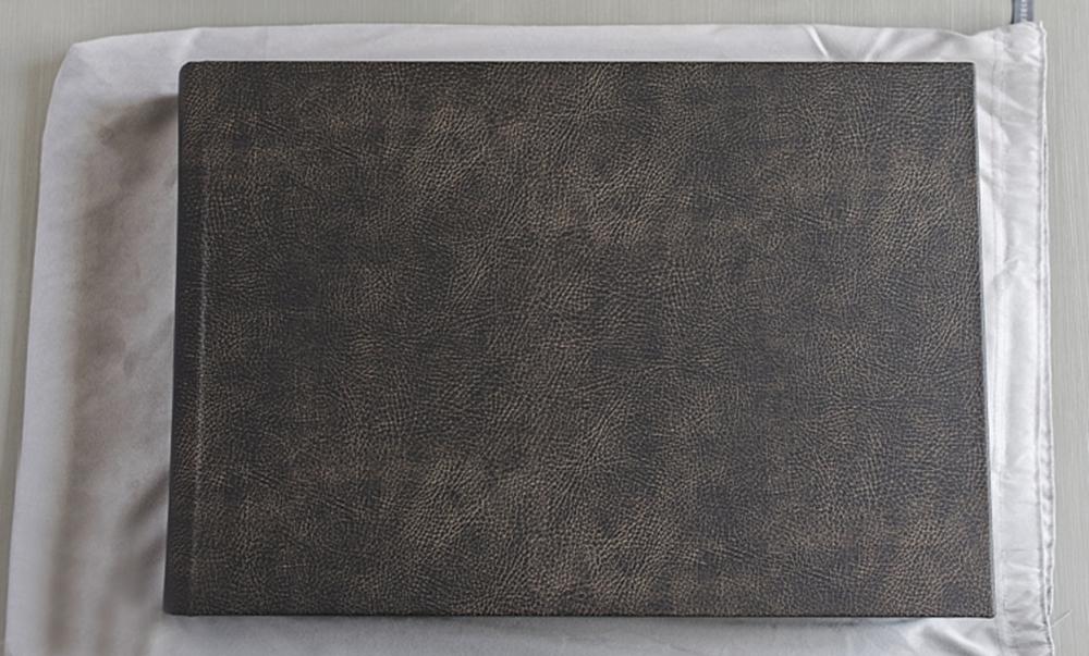 12x18 Duo Album | Vanilla Bean Leather Cover