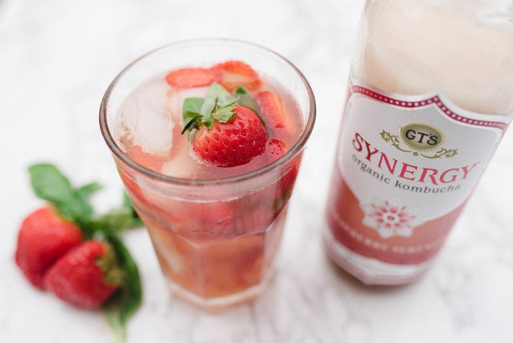 Kombucha Cocktail Vodka Skinny Healthy Recipe