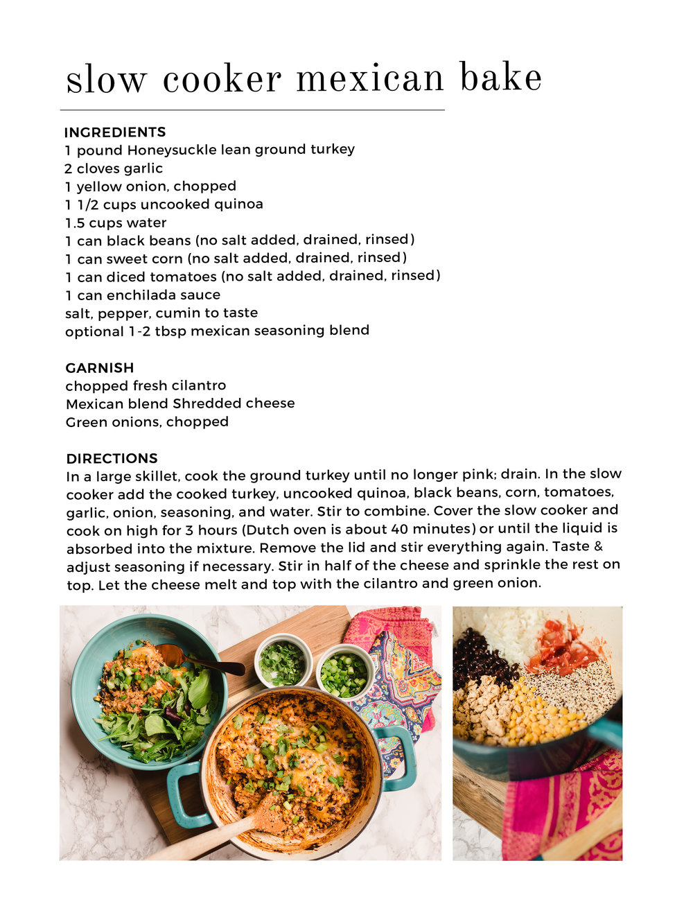 21 Day Fix Mexican Casserole