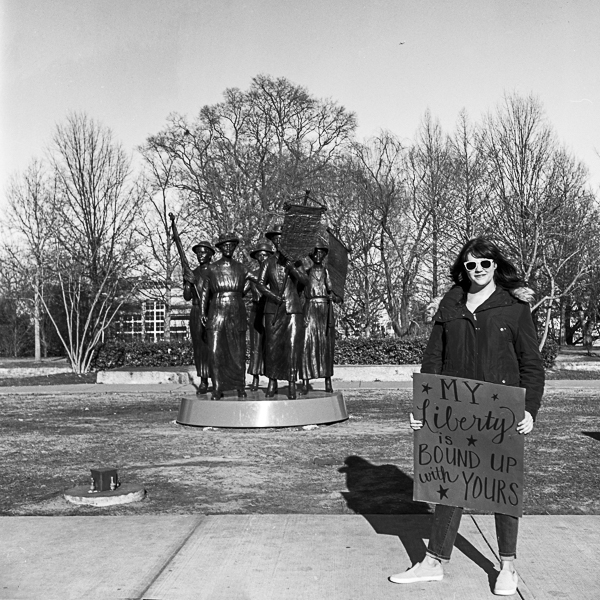 """I marched because the Communication Studies Department at Furman University taught me that words matter, that rhetoric is power, and that it is the responsibility of ethically-minded citizens to critique that language and stay vigilant of those who would use it for ill...I marched for the people who couldn't march, the people who have marched before me, and for the people who wholeheartedly disagree with the March.""  - Allison"