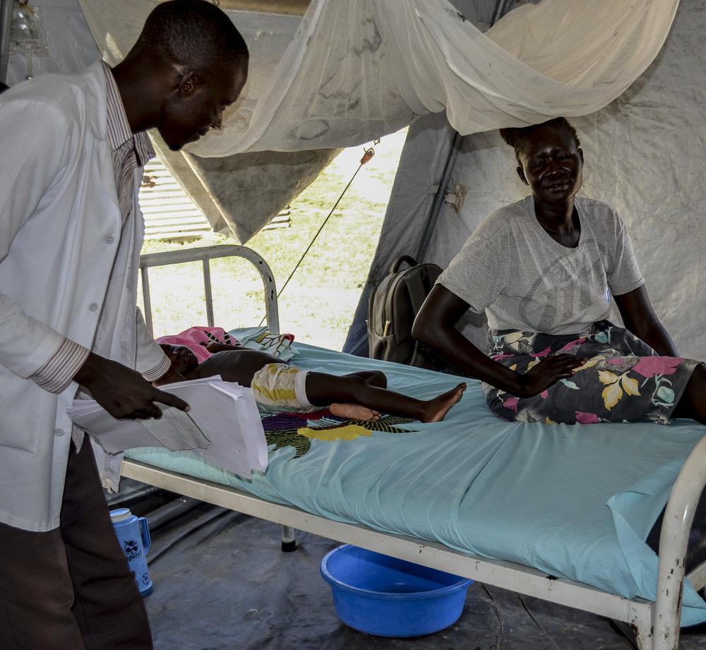 Refugee camp inpatient ward, 2016