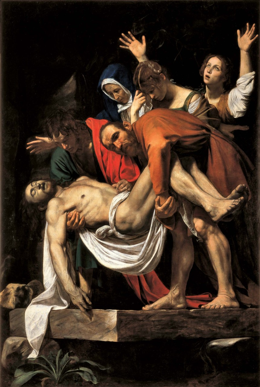 Deposition from the cross , circa 1600-1604  Caravaggio  (Michelangelo Merisi) Oil on canvas, Vatican Museums, www.museivaticani.va