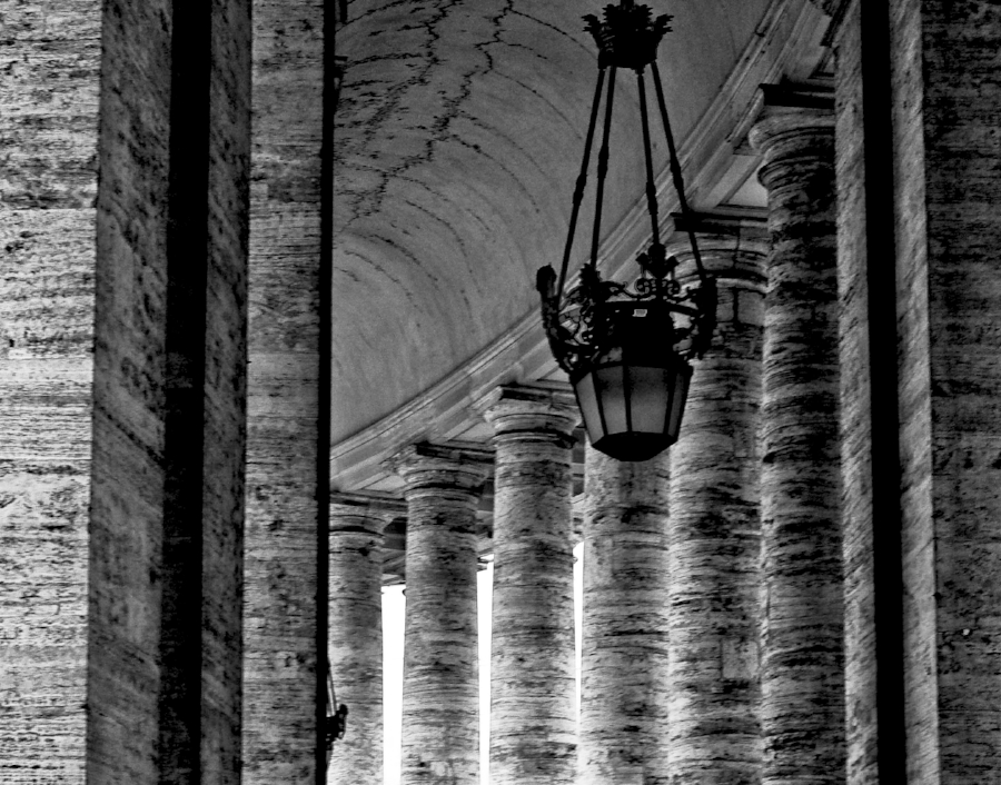 The Passage Between the Columns at the Vatican , by JC Johnson