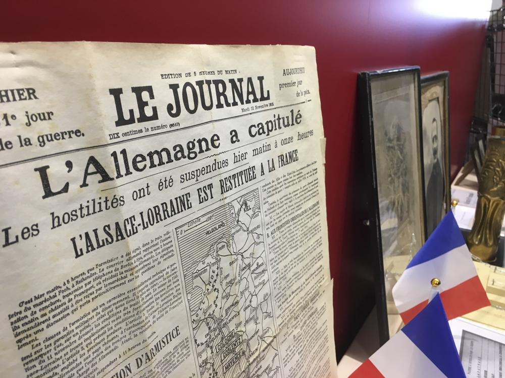 WWI memorabilia in Jurançon.