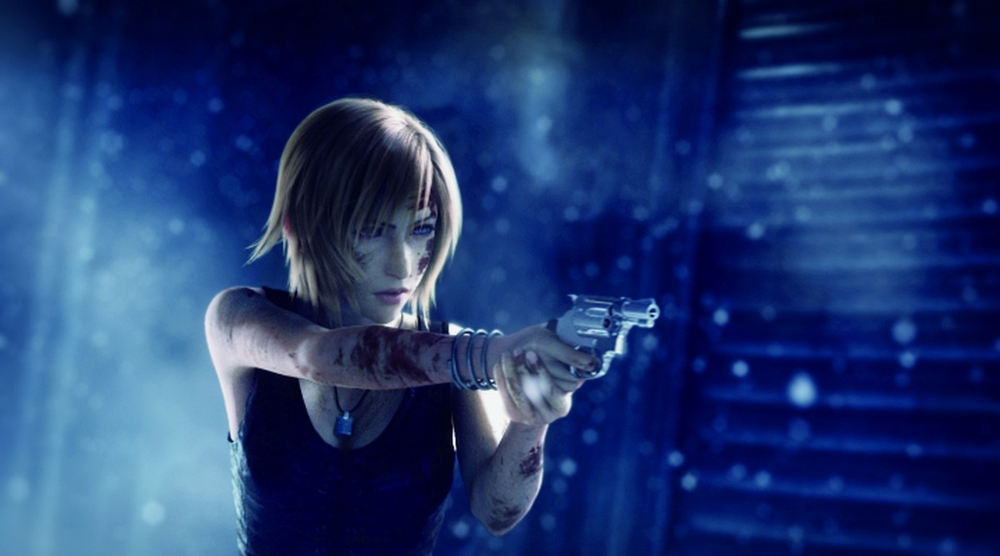 Parasite Eve's Aya Brea in action!