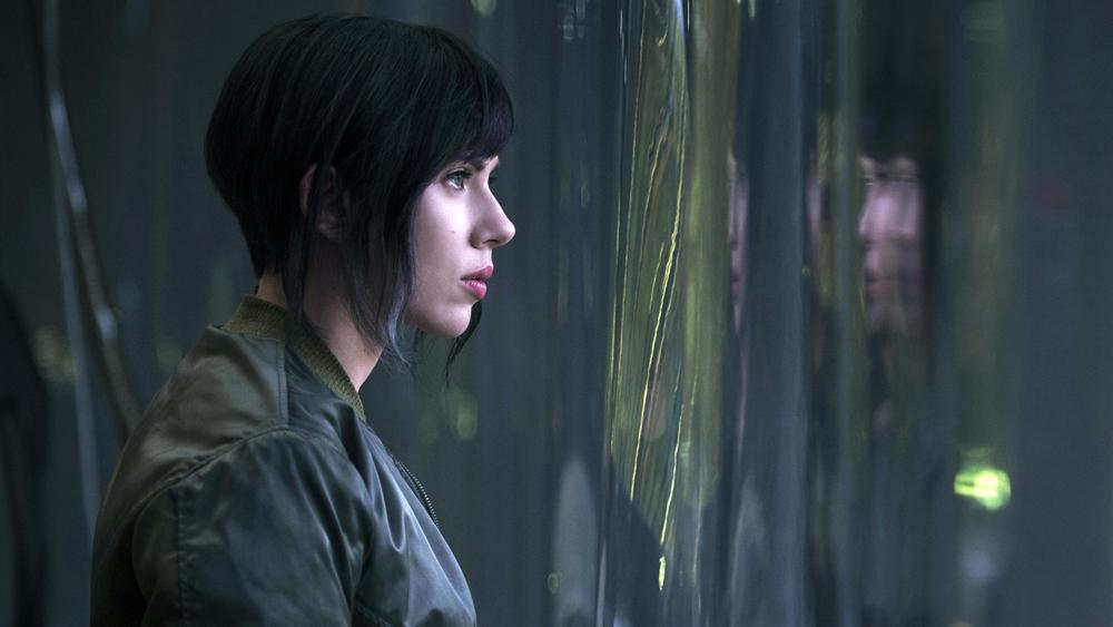 Major Mira Killian/Motoko Kusanagi, played by Scarlett Johansson.