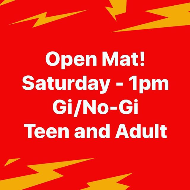 Open mat!  Saturday - 21APR18 - 1pm Gi/No-Gi Let's train! . . . #bjj #kfalls #jiujitsu #openmat