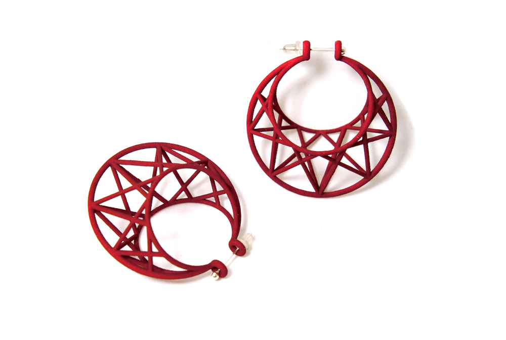 Red Star Cage Hoops - Maria Eife.jpg