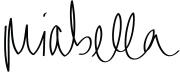 MIabella Mojica signature