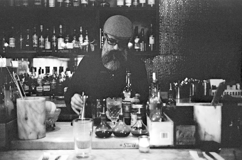 A busy barman - Strip District (Bar Marco)  |  Tri-X 400 @ 1600