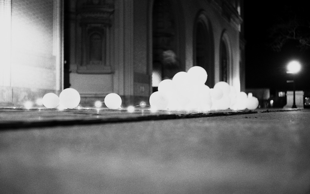 Glowing garbage - College of Fine Arts (Front porch)  |  HP5+ @ 800