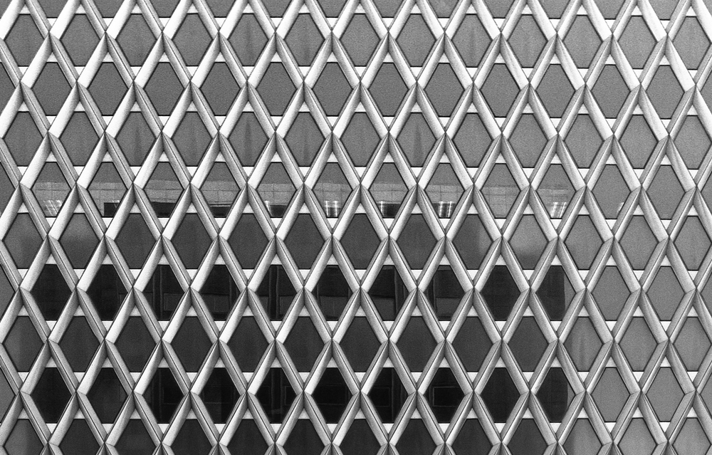 Grid - Pittsburgh (IBM Building)  |  Tri-X 400 @ 1600