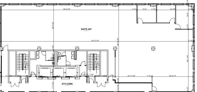 4th Floor Existing plan.