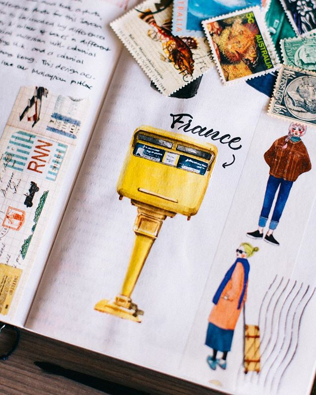 I forgot I never got round to sharing a close-up of this French postbox illustration 😂 I meant to pick up this series again recently but haven't found the stamina to do it yet.. 🤔 #ronnycakesTN