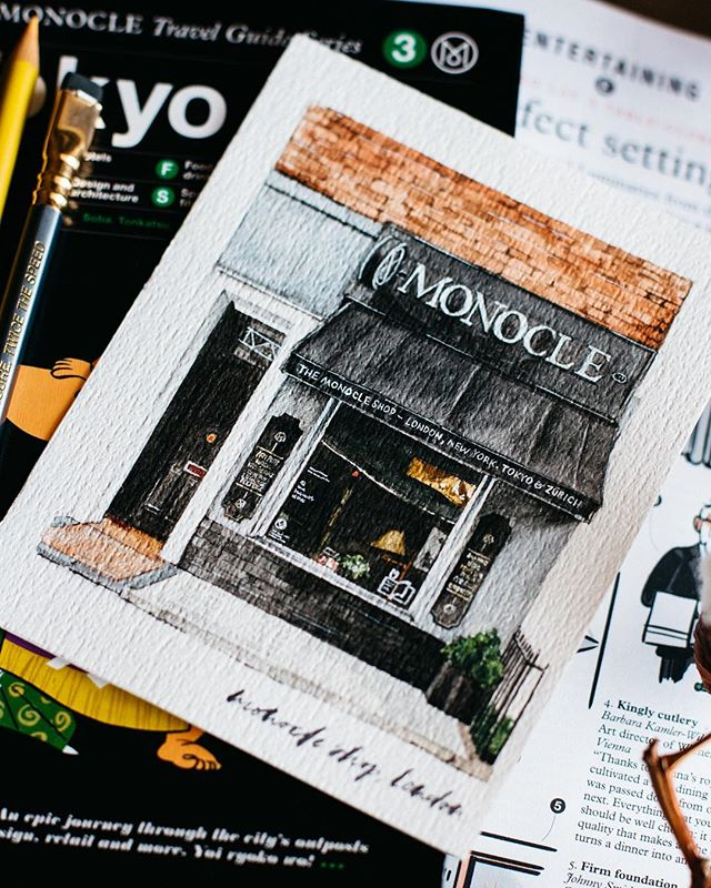 🔍 Last closeup for Monocle storefronts 🇬🇧 gathering some stamina for the next series of storefronts now.. 😂
