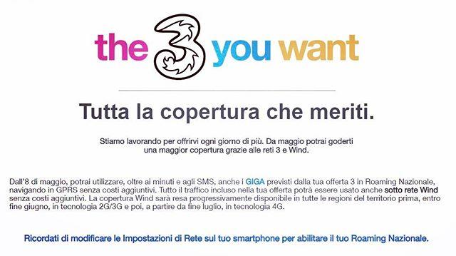 Da oggi abilitate gratuitamente il roaming dati in italia! #miglioralarete